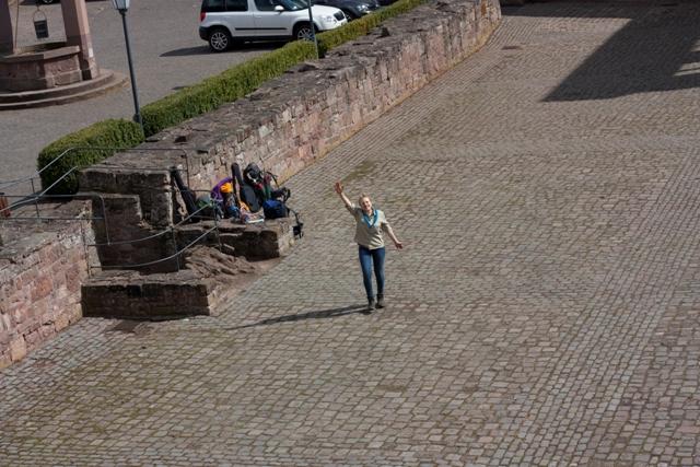 Aussicht Burg Nideggen, Pfadfinder Aachen