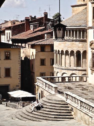 Piazza Grande, fraternita dei laici, Arezzo, tourism, Toscana, Tuscany