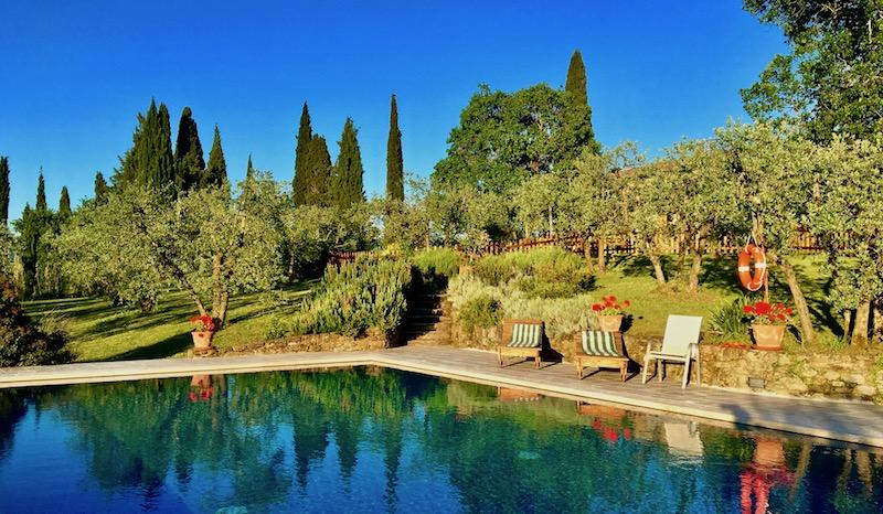 Casafredda infinity swimming pool, Arezzo, Tuscany