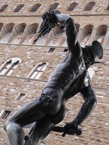 Ermes, Mercurio, Medusa, Cellini, Palazzo Vecchio, Loggia dei Lanzi, Florence, tourism, Toscana, Tuscany