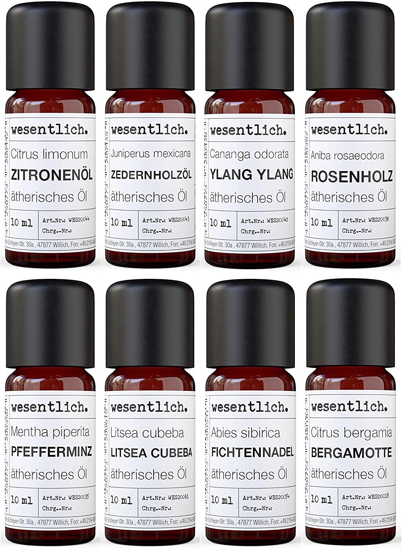Ätherische Öle Set No. 2 (Basisdüfte) von wesentlich.