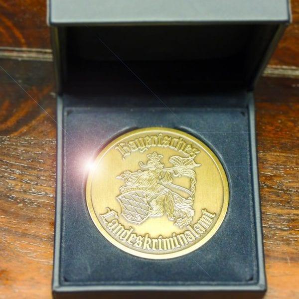 Verliehene Medaille vom LBKA