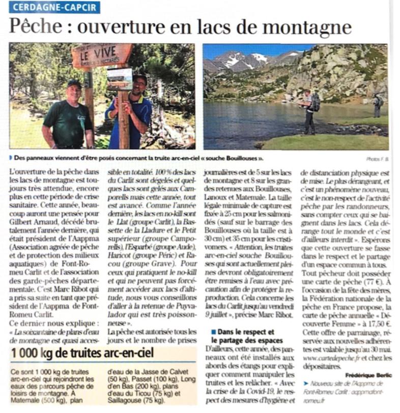 """Article """"l'indépendant"""" du 29/05/21"""