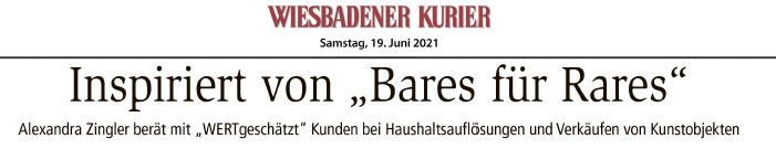 WERTgeschätzt als überzeugendes Startup im Wiesbadener Kurier vorgestellt