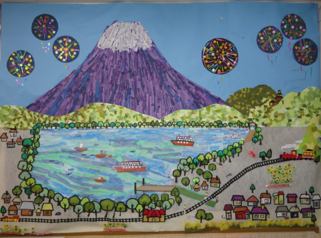 壁アート 夏の富士