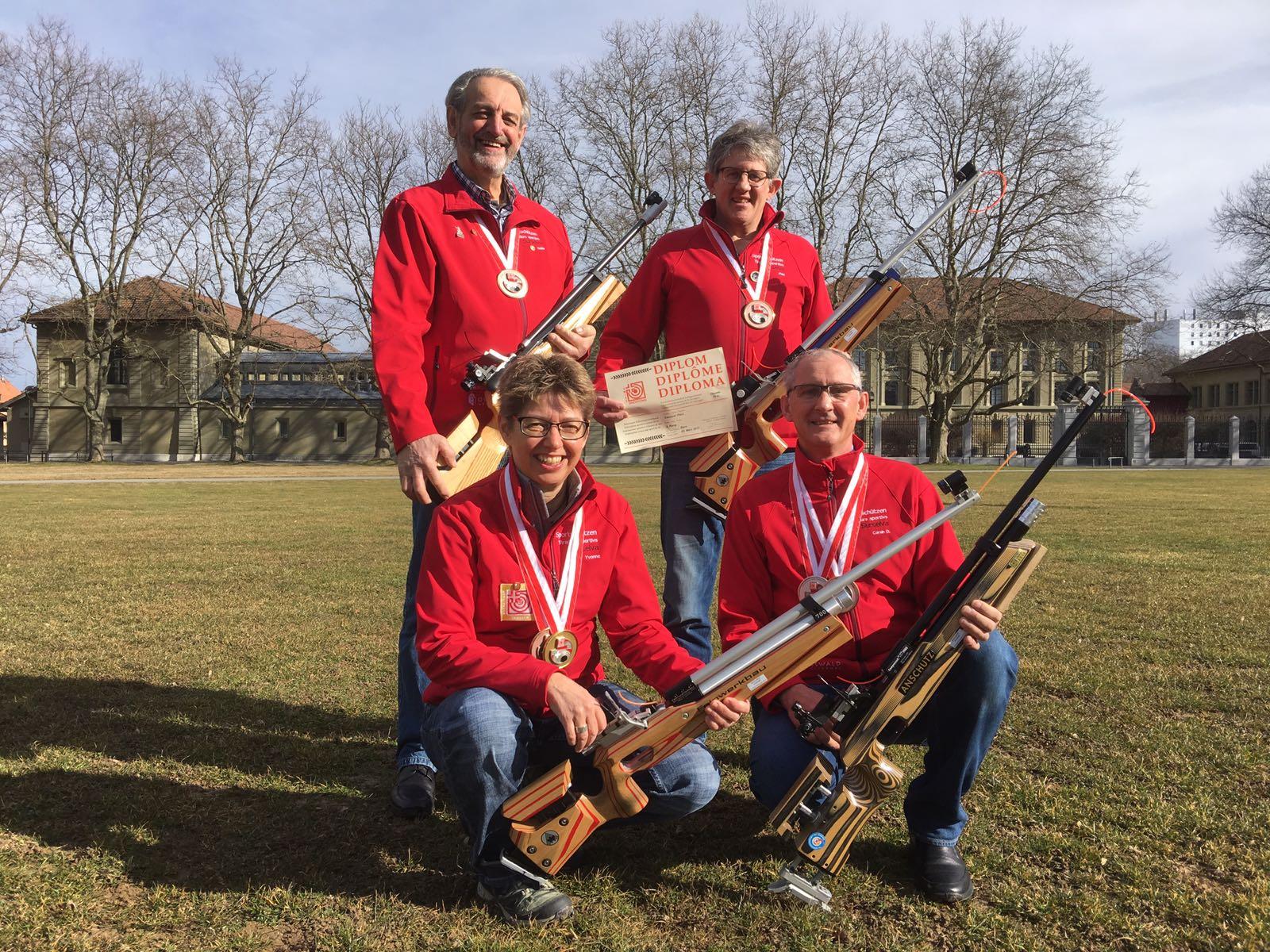 Schweizer Meisterschaft Auflageschiessen 2017 Gruppe 3. Rang