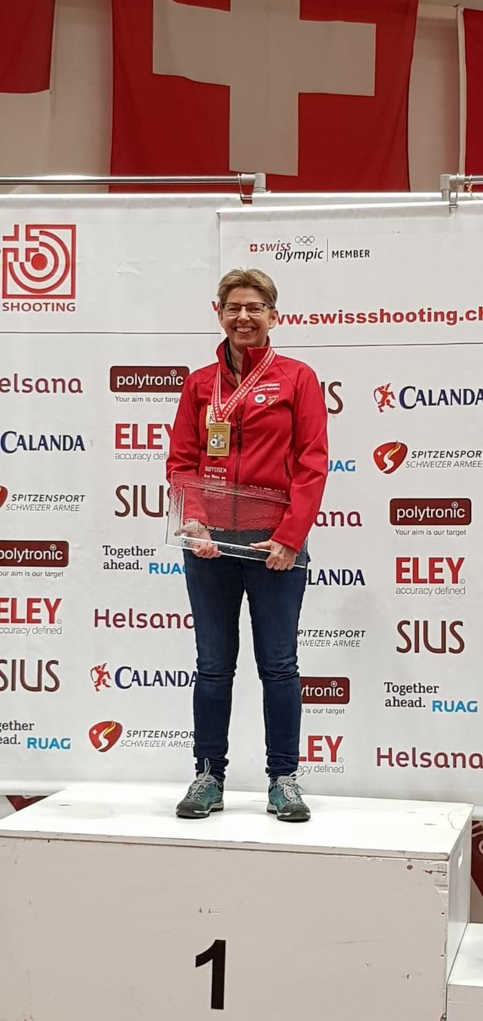 Schweizer Meisterschaft  Auflageschiessen 2019 Titelverteidigung 3. Meistertitel im Einzelwettkampf