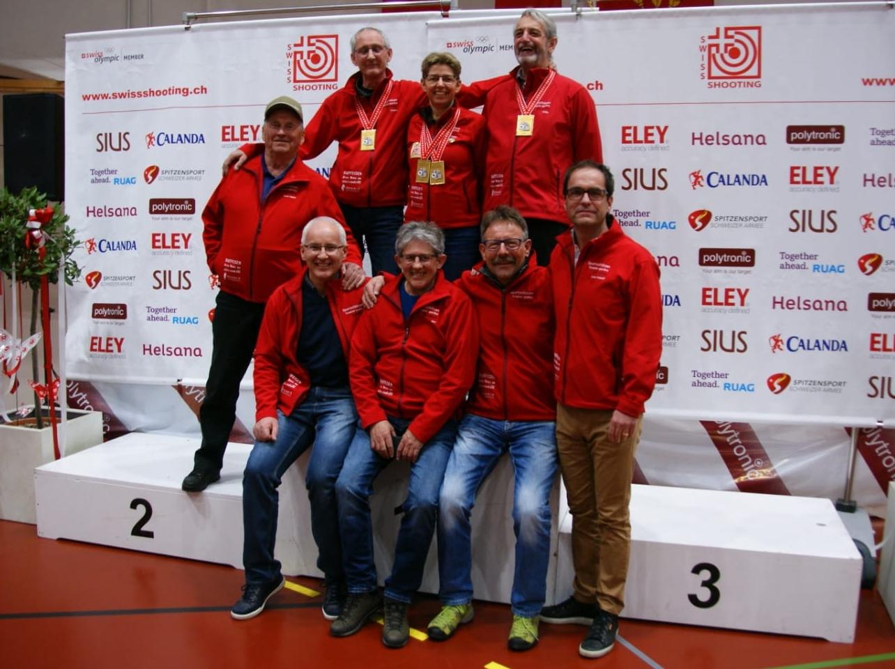 Schweizermeisterschaft Auflageschiessen 2019 mit meinen Vereinskameraden