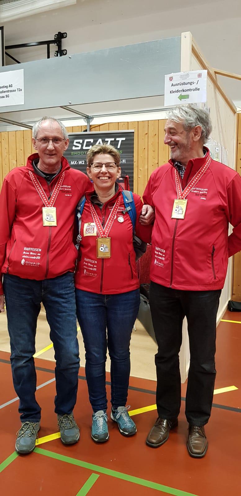 Schweizer Meisterschaft  Auflageschiessen 2019 4.  Titel mit der Gruppe