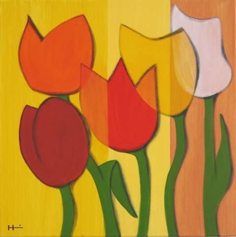 Tulpen2, 60x60 cm