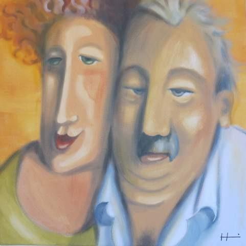 Paar, 40x40 cm