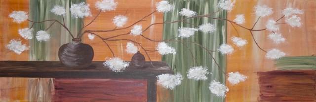 Blütenzweige, 30x90 cm