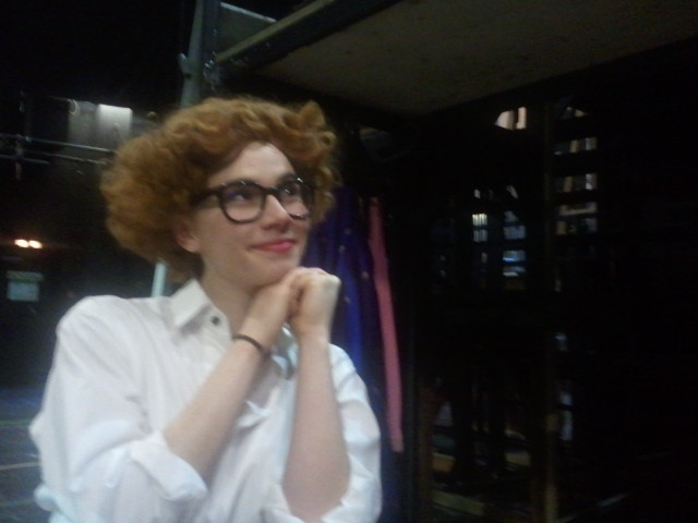 Backstage and in costume for Die Goldberg-Variationen at Volkstheater Wien . March 2013