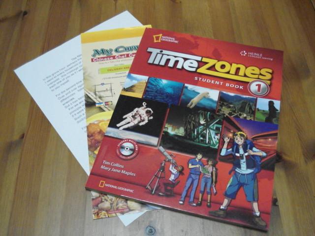 小学生上級者、中学生用テキストは写真が素敵なTime Zones