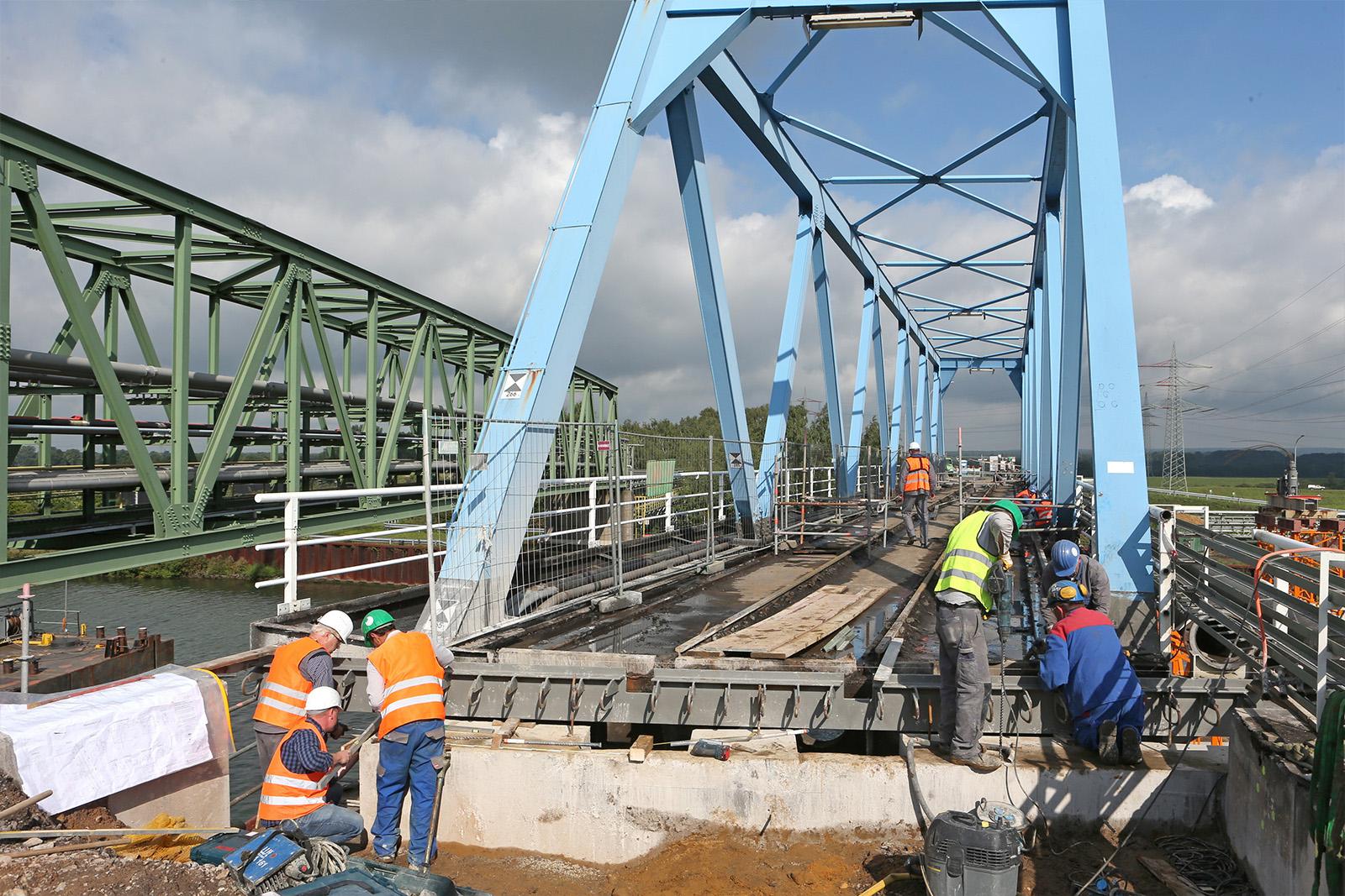 Brückenrückbau · Wesel-Dattel-Kanal