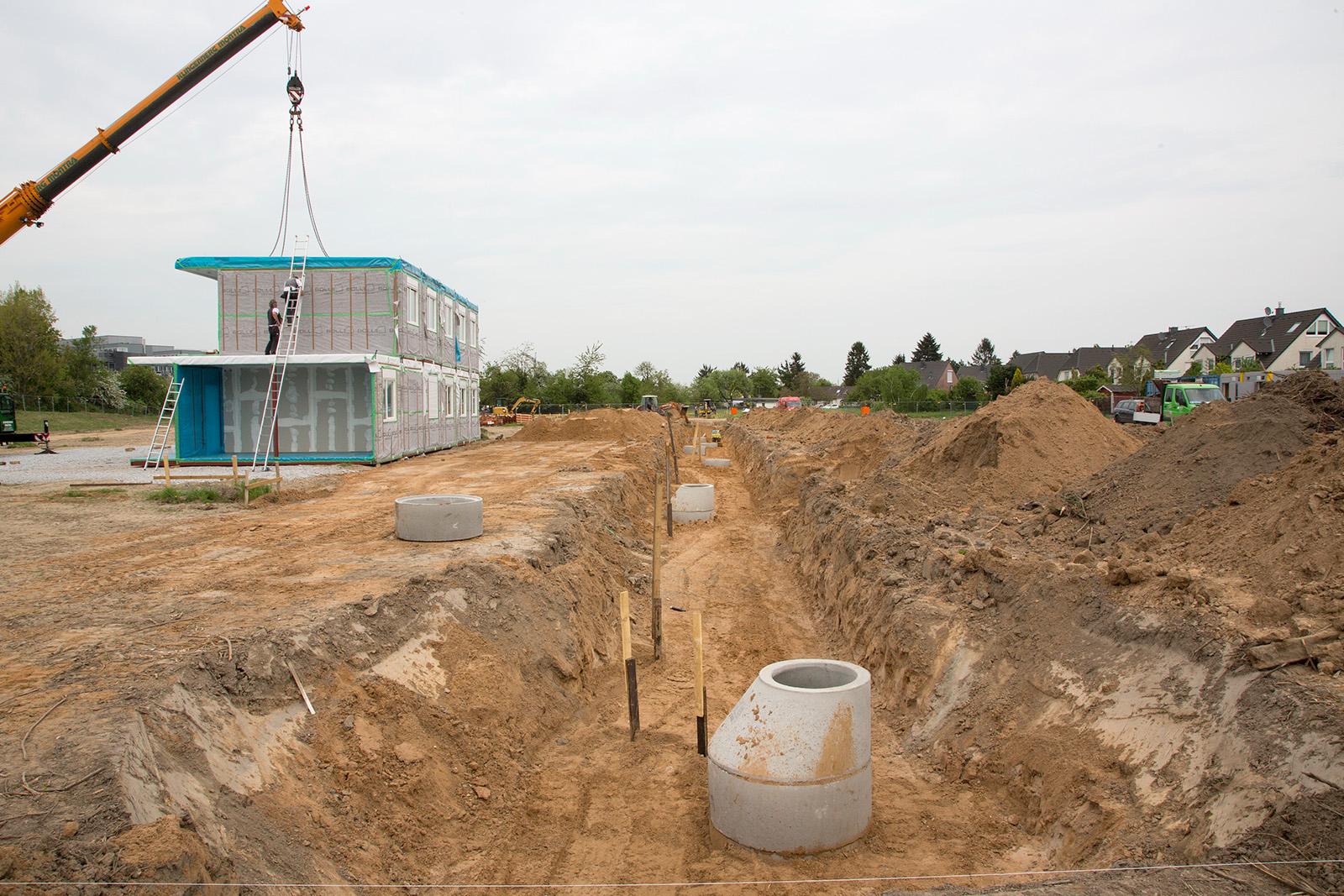 Erschließung Containeranlage · Düsseldorf