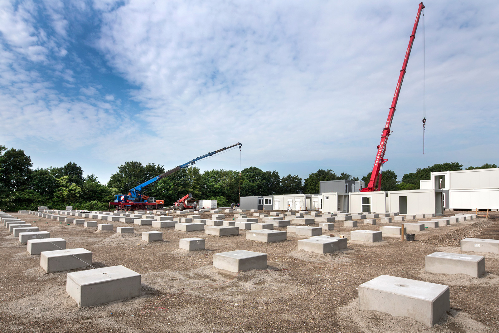 Fundamente Containerdorf · Leverkusen