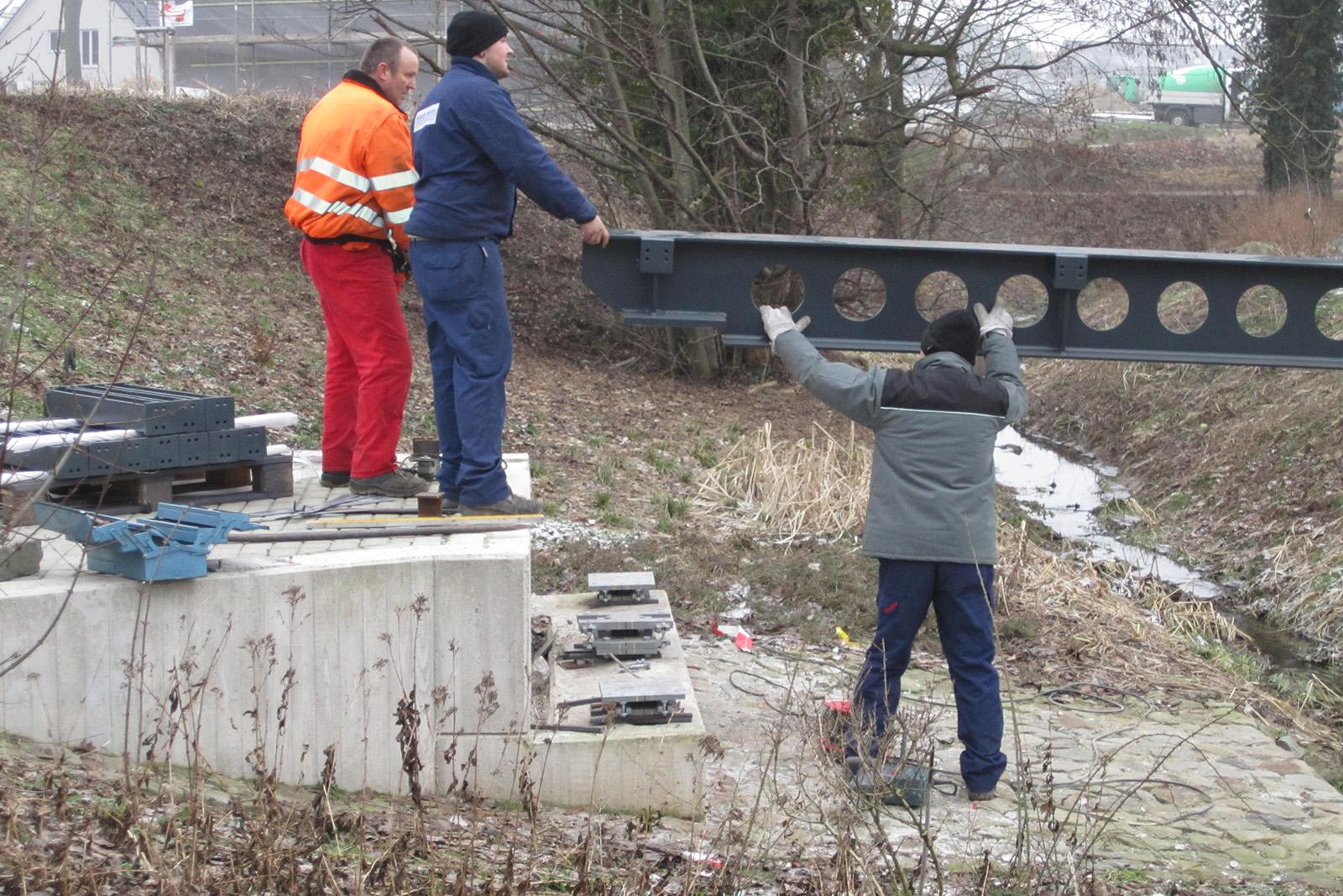 Neubau 3 Fußgängerbrücken · Kirchhellen
