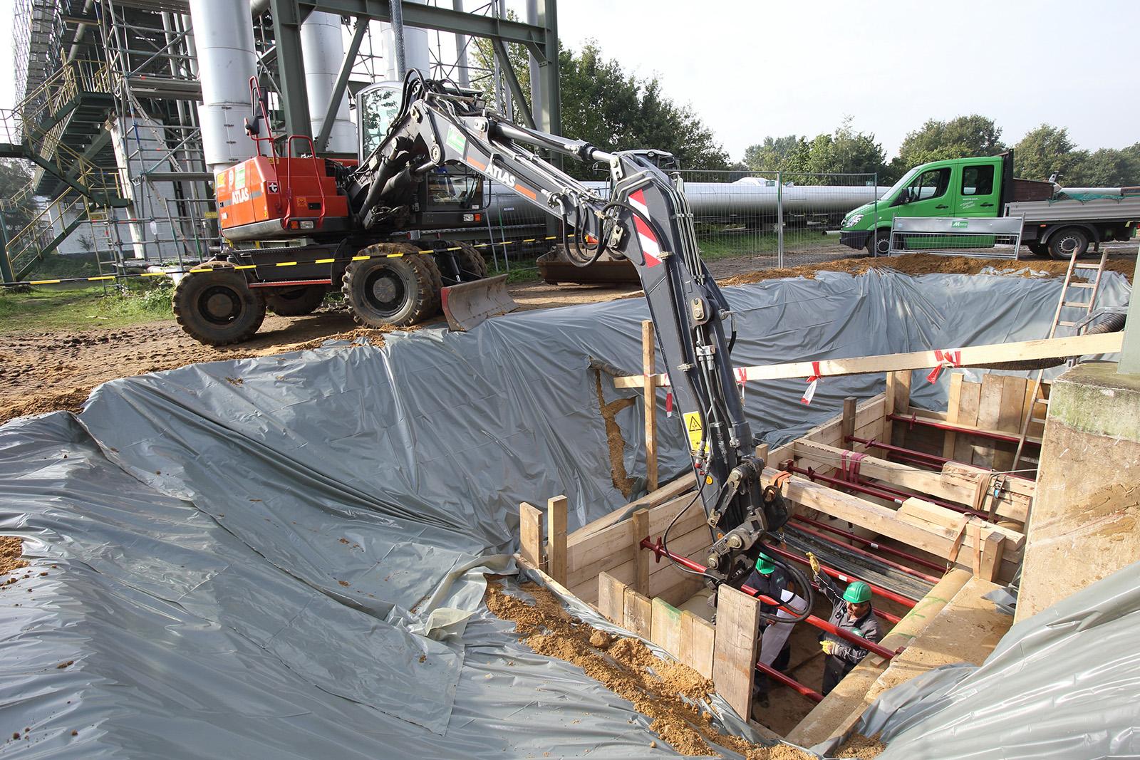Verbauarbeiten Stromtrasse · CPM Marl