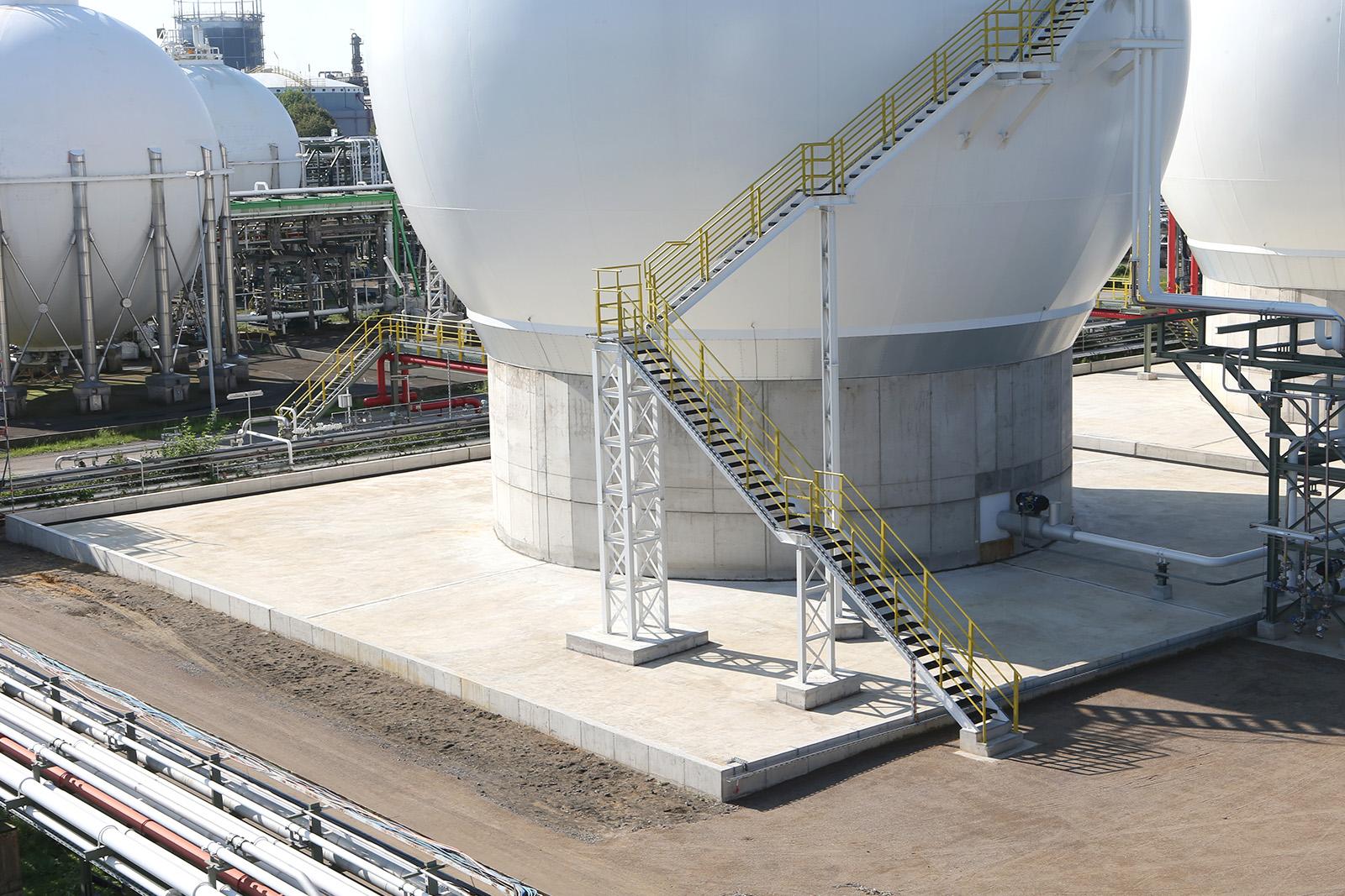 Fundamente Gaskugeltanks · CMP Marl