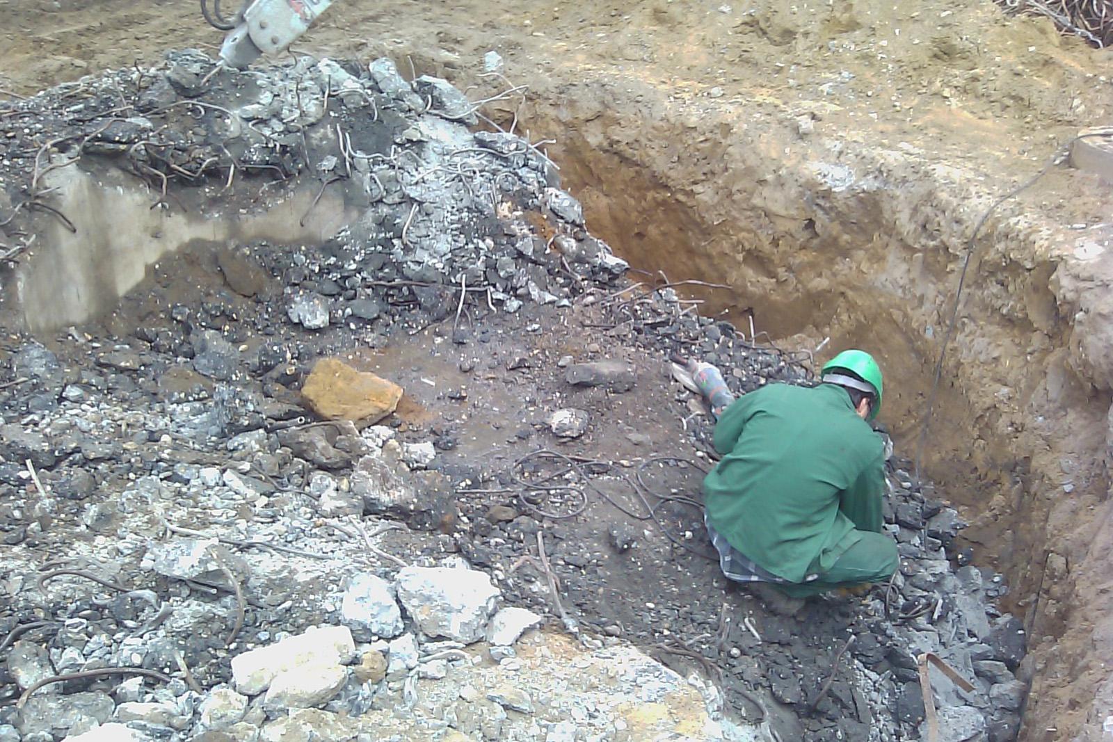 Abbruch Bunker in sensiblem Bereich · Marl