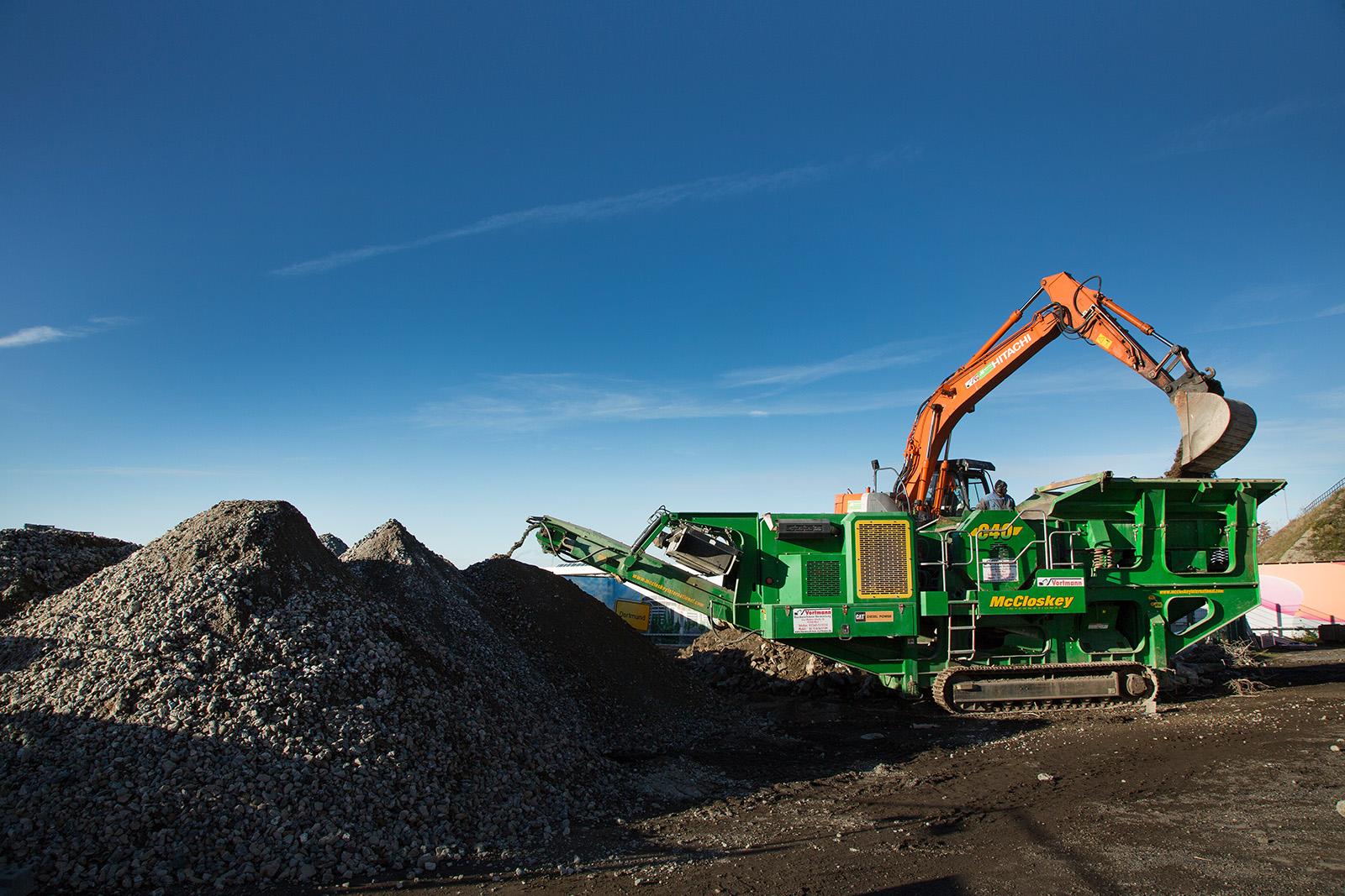 Bauschuttverwertung mit Brechanlage · AIR LIQUIDE · Dortmund