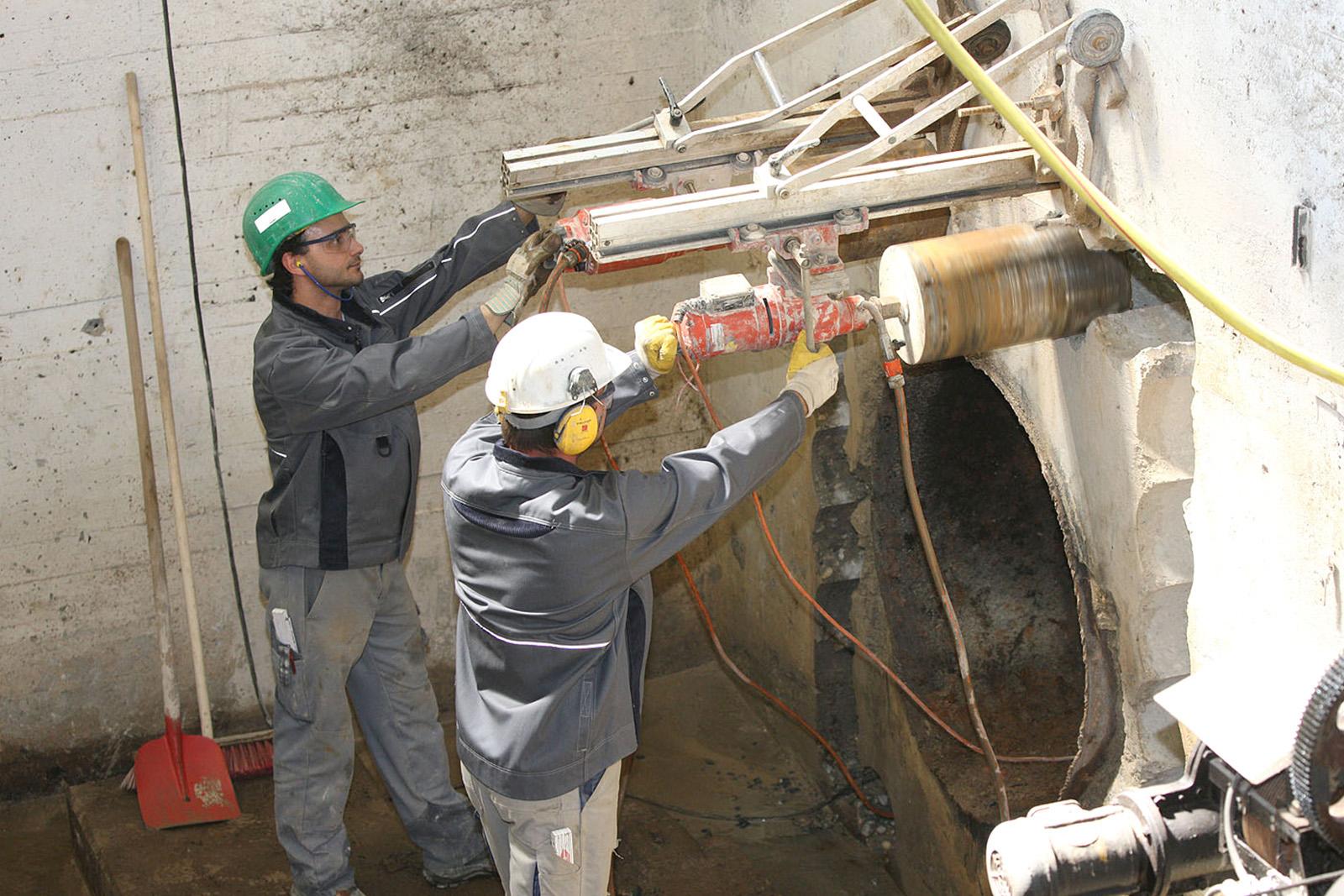 Kernbohrungen Kraftwerk Bau 1820 · CPM Marl