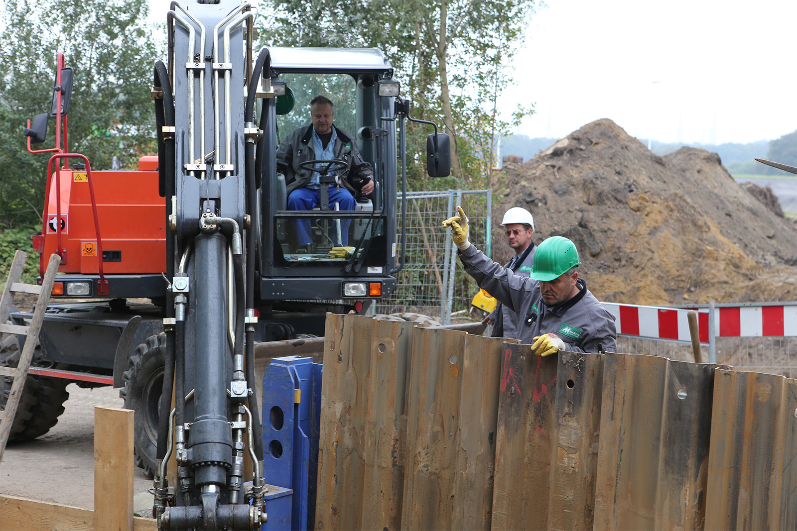 Verbauarbeiten Gasversorgungsleitung · CPM Marl