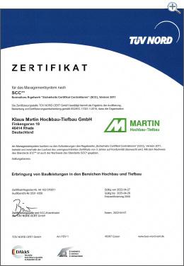MartinBau - Zertifikat SCC**