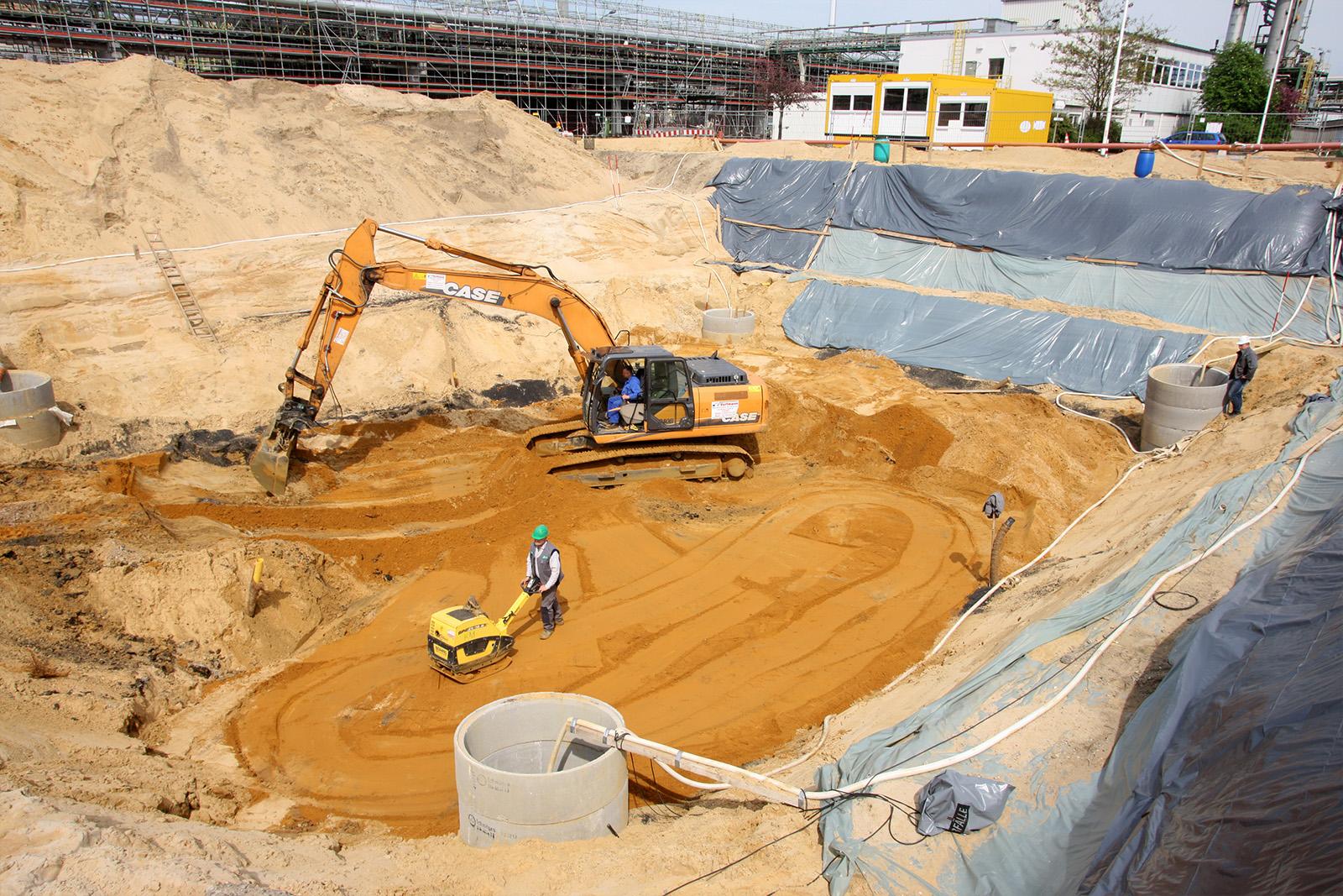 Bodenaustausch + Grundwasserabsenkung · CPM Marl