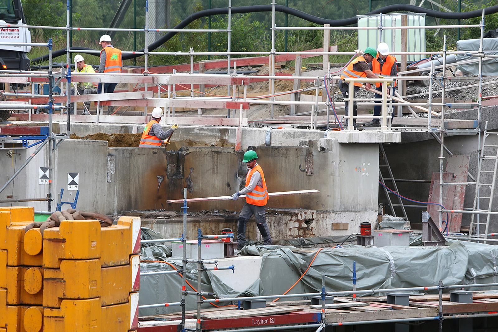 Teilabbruch Brückenwiderlager · Brücke Nord · Marl