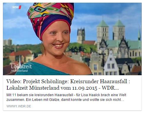 """WDR v. 11.09.2015 - Video Projekt """"Schönlinge"""""""