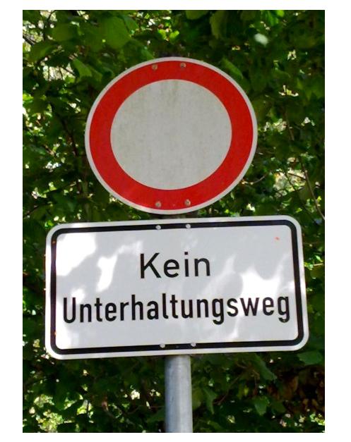 kusel: kein durchgang für plaudertaschen und kichererbsen