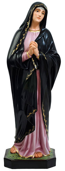 Our Lady of Sorrows resin statue