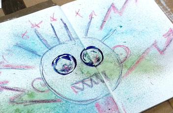 Art Journaling Intuitives Malen Kunsttagebuch Inneres Team Kreativität Ausdrucksmalen Loslassen Transformation