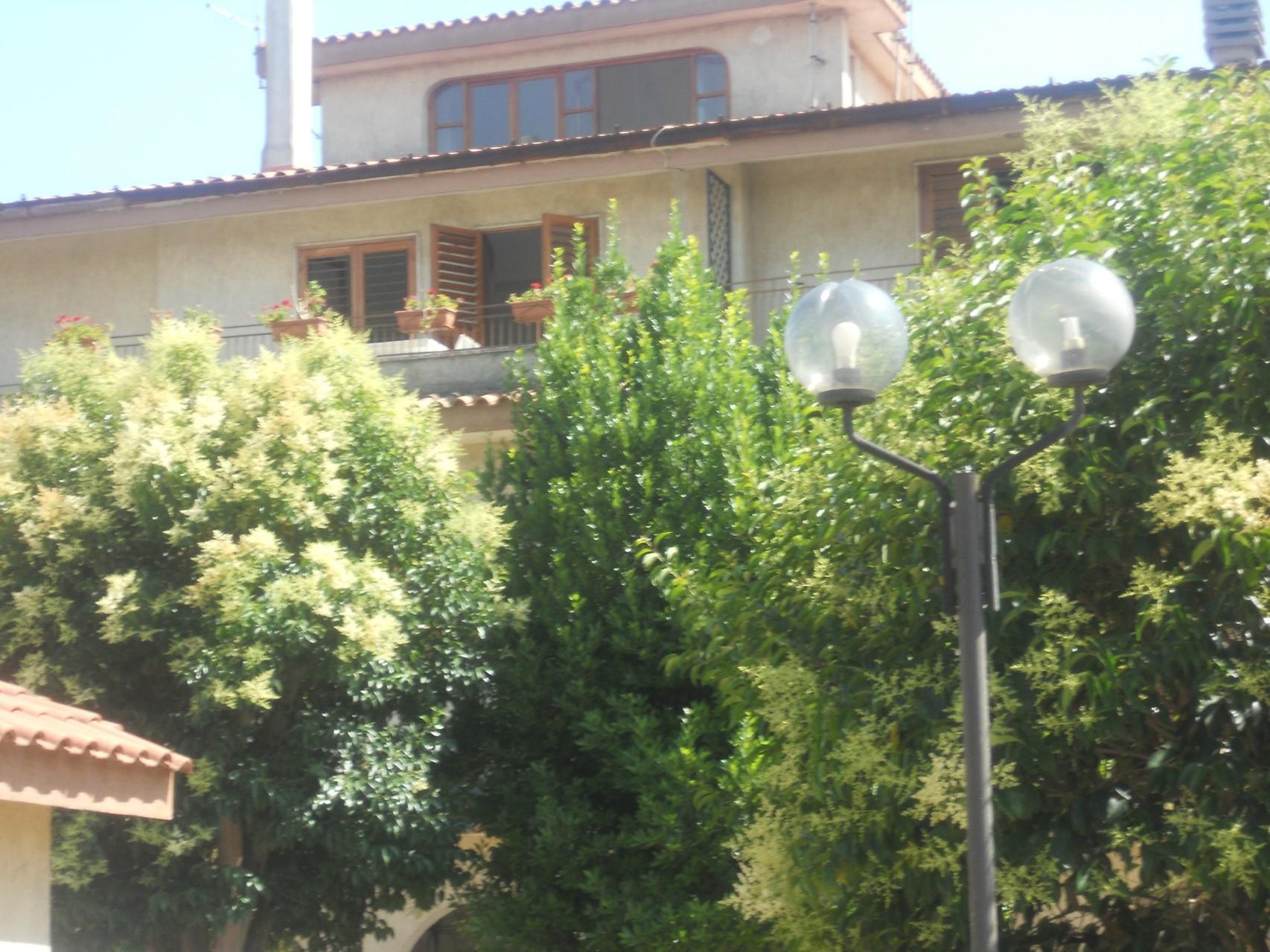Gezicht op de villa.