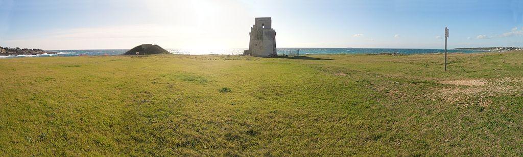 Torre Saturo in het archeologische park van Saturo.