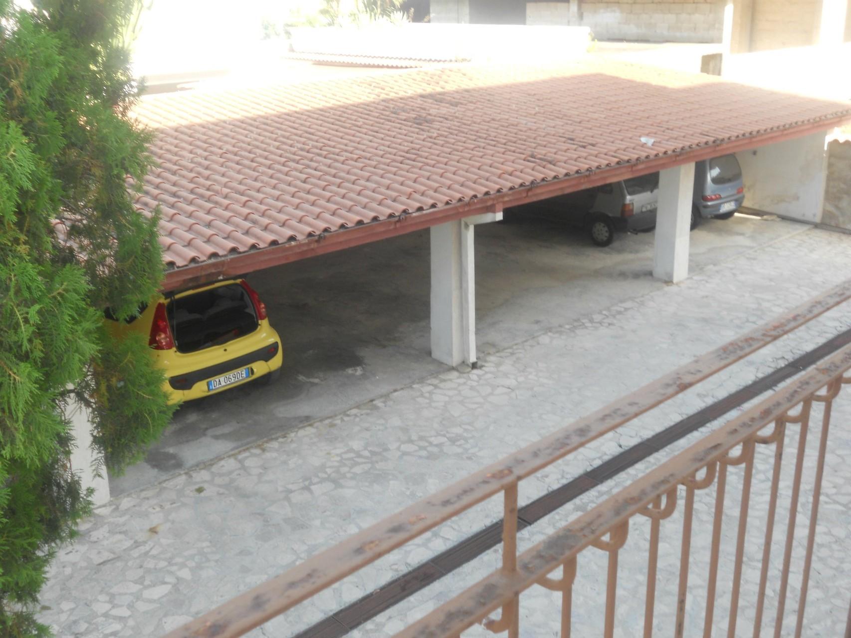 Garage van bovenaf gezien.