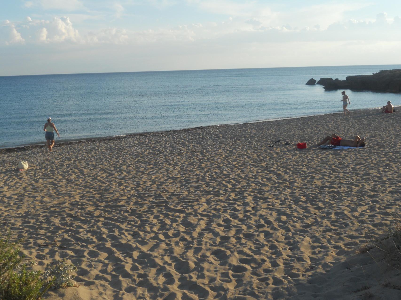 Spiaggia ad 1 km dall'appartamento h 19.