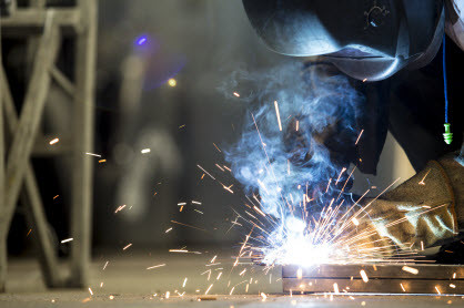 A welding shop can do custom welding like Triplett and Coffey.