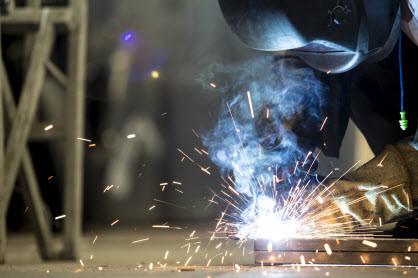A welding shop can do custom welding like Triplett and Coffey.