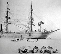 Le navire Discovery de Robert Falcon Scott