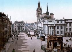 Castle street entre 1890 et 1905 (Aberdeen, Écosse)