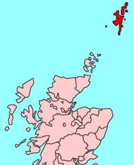 Archipel des Shetland au nord de l'Écosse