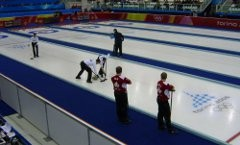Compétition de curling aux JO de Turin
