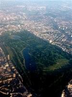 Vue aérienne de Hyde Park