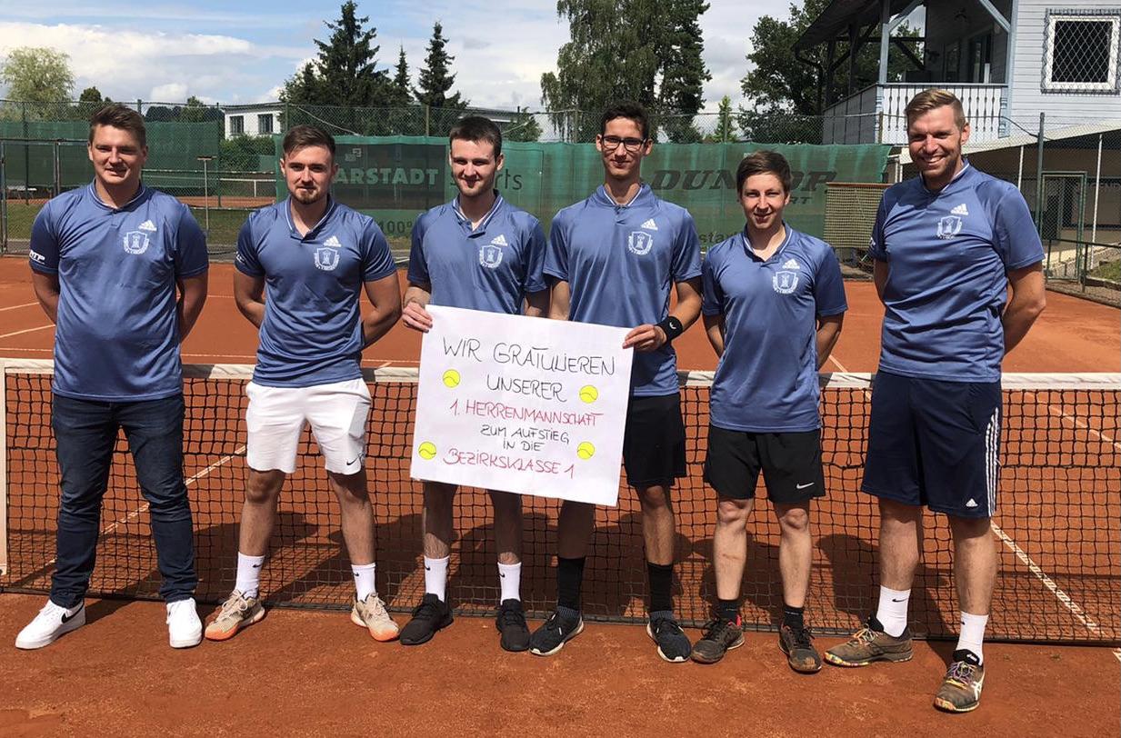 Tennis: Herrenmannschaft steigt in die Bezirksklasse 1 auf!