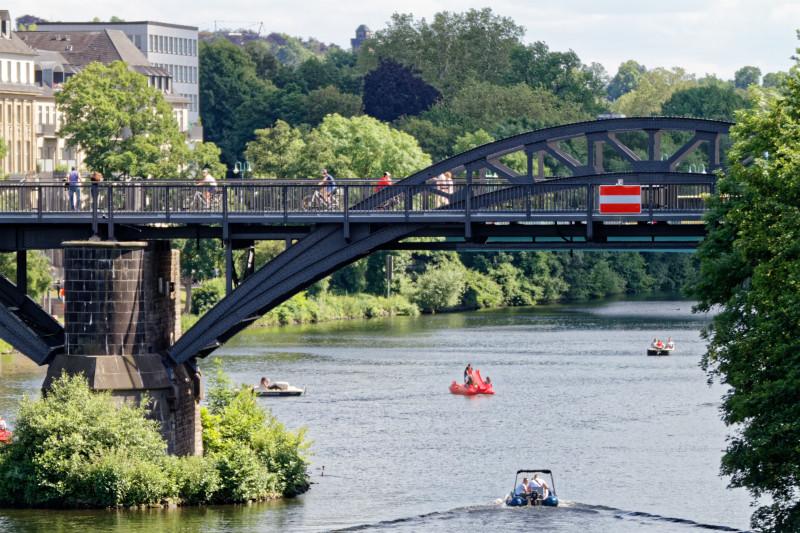 """""""Radschnellweg RS1 Brücke in Mülheim/Ruhr (7-57602)"""" - Copyright by Franz Walter"""