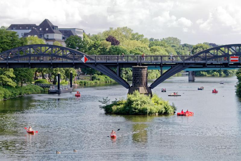 """""""Radschnellweg RS1 Brücke in Mülheim/Ruhr (7-57612)"""" - Copyright by Franz Walter"""