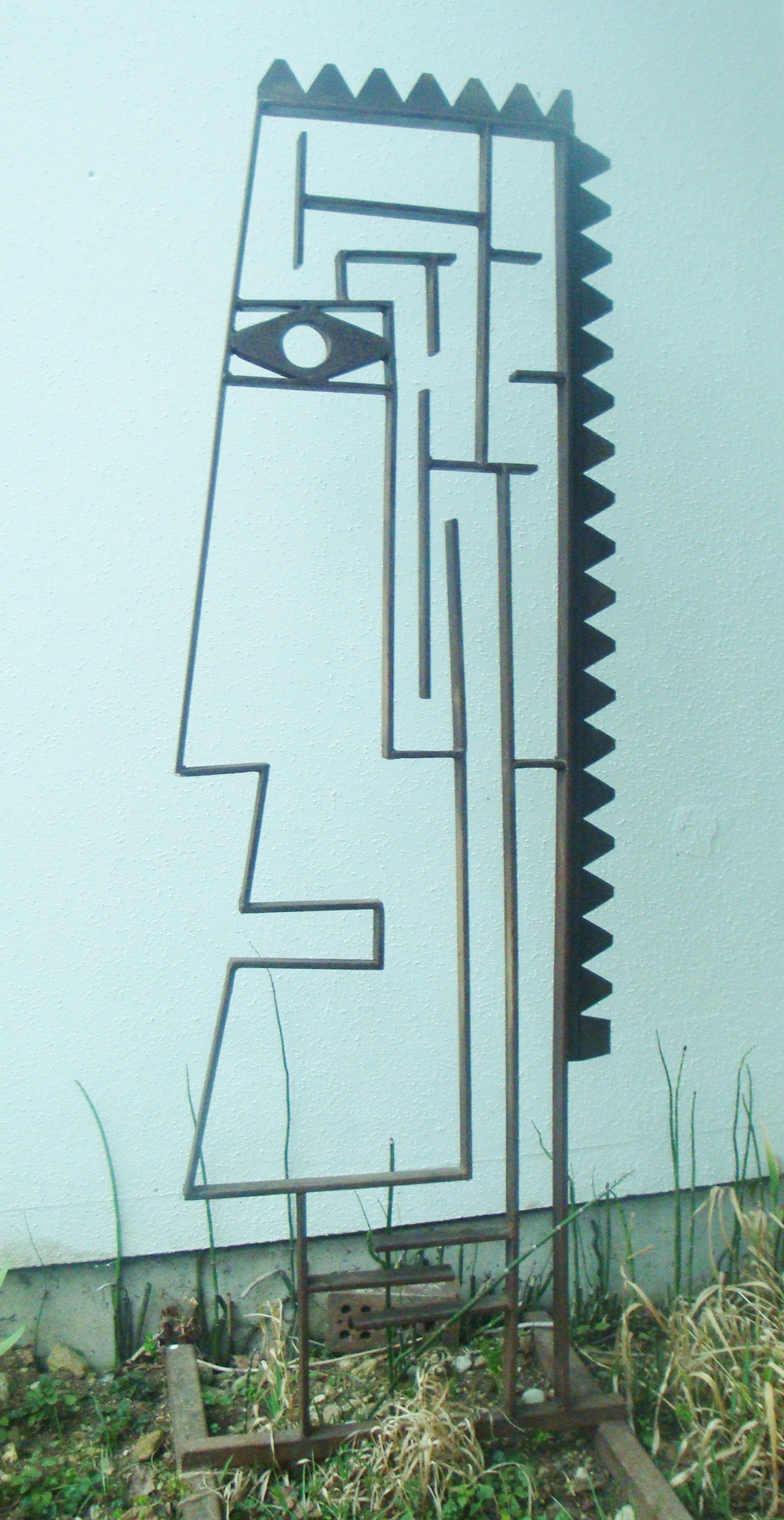 Menschlicher Irrgarten oder der Indianer,  Metall ca 200cm